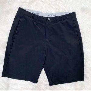 Adidas black stretchy shorts size 38